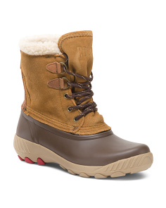 Maple Sugar Suede Cozy Lined Cold Weather Boots
