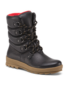 Waterproof Leather Winter Boots