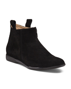 Made In Italy Low Suede Booties