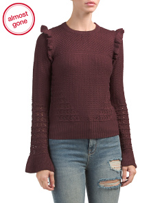 Wool Blend Multi Textured Sweater