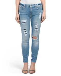 Made In USA The Ankle Distressed Skinny Jeans