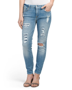 Made In USA The Ankle Destruction Skinny Jeans