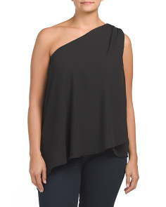 Plus One Shoulder Draped Top