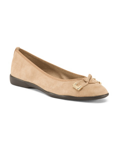 Made In Italy Suede Knot Keeper Flats