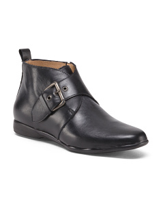 Made In Italy Leather Low Booties