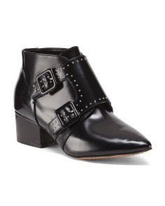 Buckle Moto Leather Booties