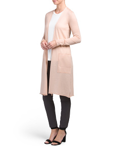 Anne Cashmere Open Cardigan