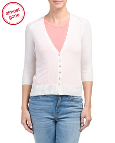 Cashmere Button Front Cardigan