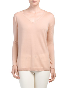 Thea Lounge Cashmere V-neck Sweater