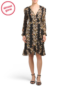 Made In USA Only You Floral Wrap Dress