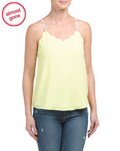 Juniors Scalloped Top