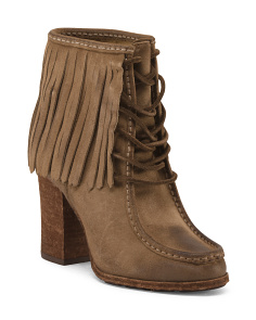 Parker Fringed Leather Booties