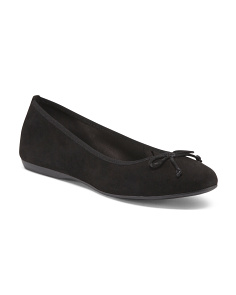 Made In Italy Suede Ballet Flats