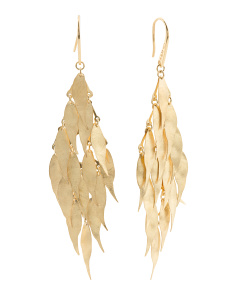 Made In Bali 14k Gold Plate Silver Fish Scale Earrings