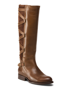 Jordan Criss Cross Strap Leather Boots