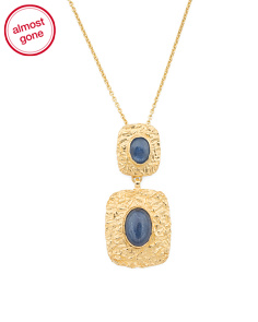 Made In Bali 14k Gold Plate Silver And Kyanite Necklace