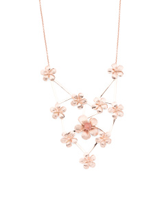 Made In Bali Rose Gold Plated Sterling Silver Flower Necklace