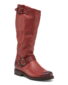 Veronica Slouch Leather Boots