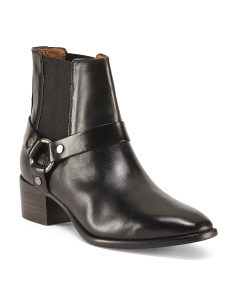 Dara Harness Chelsea Leather Booties
