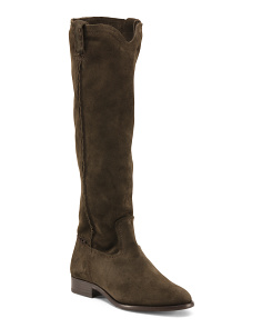 Cara Tall Suede Riding Boots