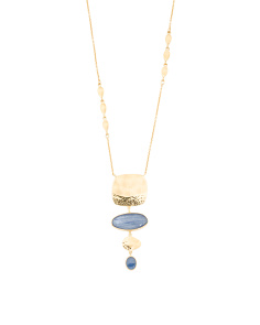 Made In Bali 14k Gold Plated Silver And Kyanite Necklace