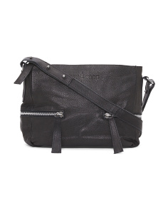 Leather Harley Zip Bag