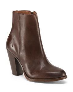 Jenny Heeled Leather Booties