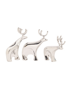 Made In India 3pc Dasher Reindeer Set