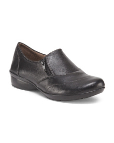 Leather Step In Loafers