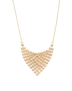 Made In Italy 14k Gold Mesh Bib Necklace