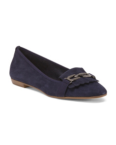 Made In Italy Kitty Suede Flats