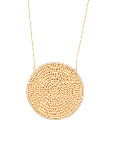 14k Gold Plated Kelly Pendant Necklace