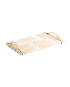 Made In India Wood And Marble Cheese Board