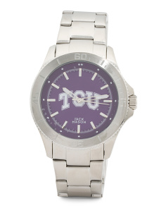 Men's TCU Horned Frogs Bracelet Watch