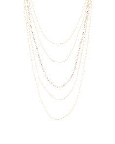 Layered Cubic Zirconia And Chain Necklace