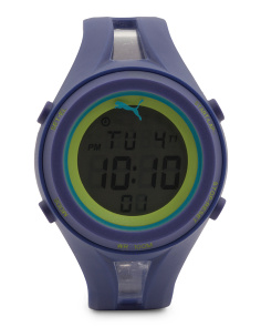 Men's Digital Rubber Strap Sport Watch