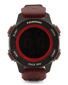 Men's Trinomic Digital Nylon Strap Sport Watch