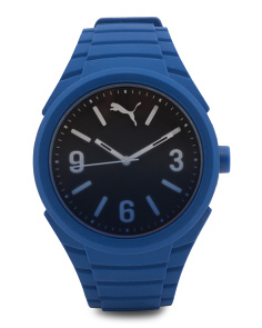 Ombre Dial Blue Silicone Strap Sport Watch