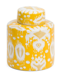 Ikat Lidded Jar