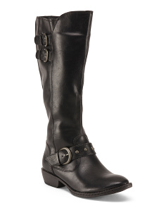 High Shaft Boots With Buckles