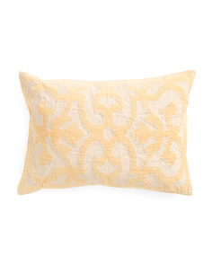 Made In India 14x20 Medallion Applique Pillow