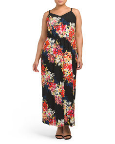 Plus Bloom Stripe Maxi Dress
