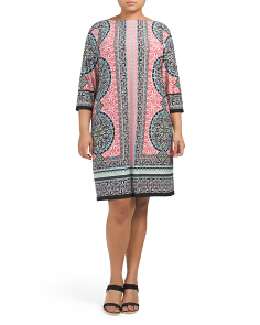 Plus Moroccan Medallion Shift Dress