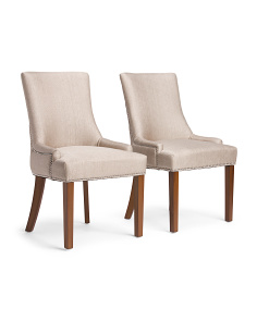 Set Of 2 Mckenzie Tuxedo Chairs