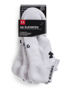 3pk Elevated Performance No Show Socks