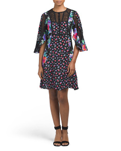 Made In USA Silk Flower Field Dress
