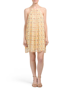 Juniors Made In USA Print Woven Dress