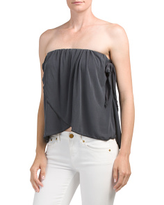 Juniors Strapless Tulip Top