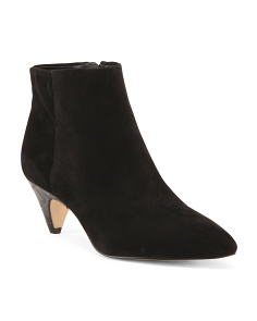 Pointed Toe Suede Booties