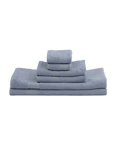 Made In Turkey 6pc Towel Set